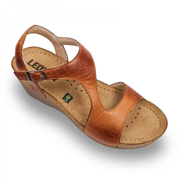 Sandale ortopedice pentru dame Leon 1050 Maro