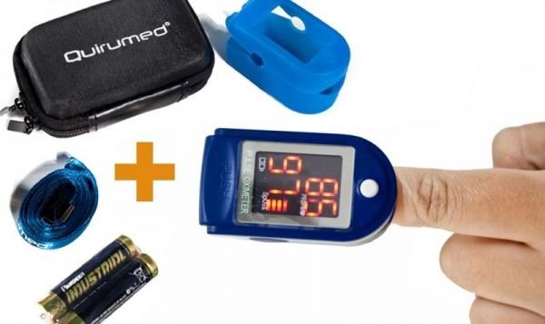 Pulsoximetru portabil pentru masurarea pulsului si a saturatiei de oxigen Albastru