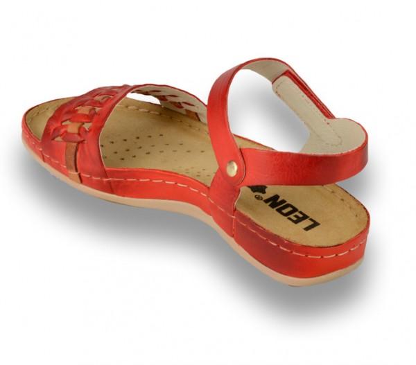 Sandale ortopedice pentru dame Leon 964 Rosu