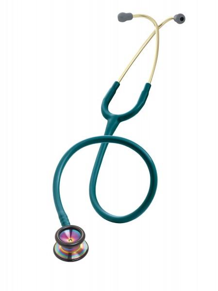 Stetoscop 3M Littmann Classic II Pediatric Albastru Caraibe capsula curcubeu 2153+ 2 Cd-uri educatio