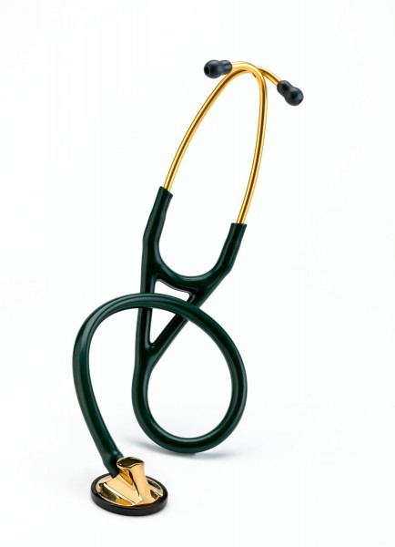 Stetoscop 3M Littmann Master Cardiology Verde inchis capsula aurie 2183 + 2 Cd-uri educationale