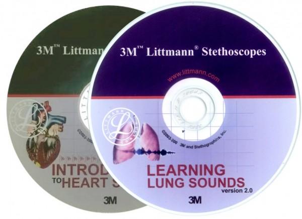 CD 3M Littmann Introducere in sunetele inimii + CD 3M Littmann Sunetele plamanilor