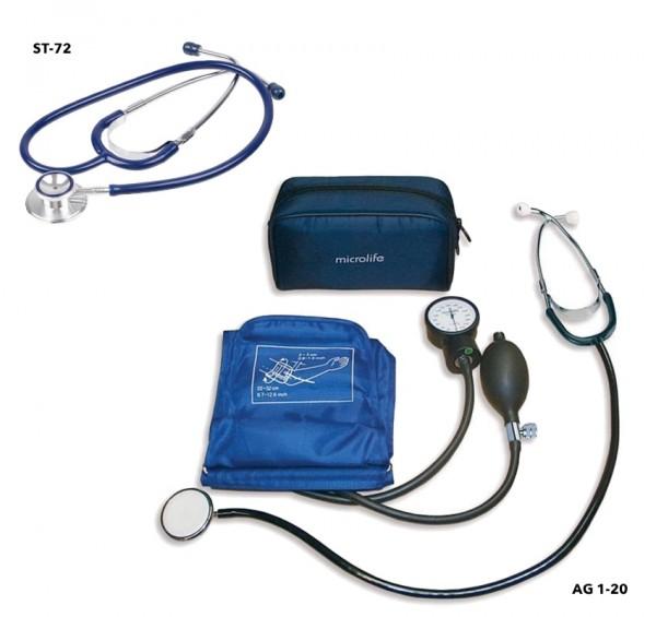 Pachet pentru studenti Tensiometru AG1-30 + Stetoscop ST-72 Microlife