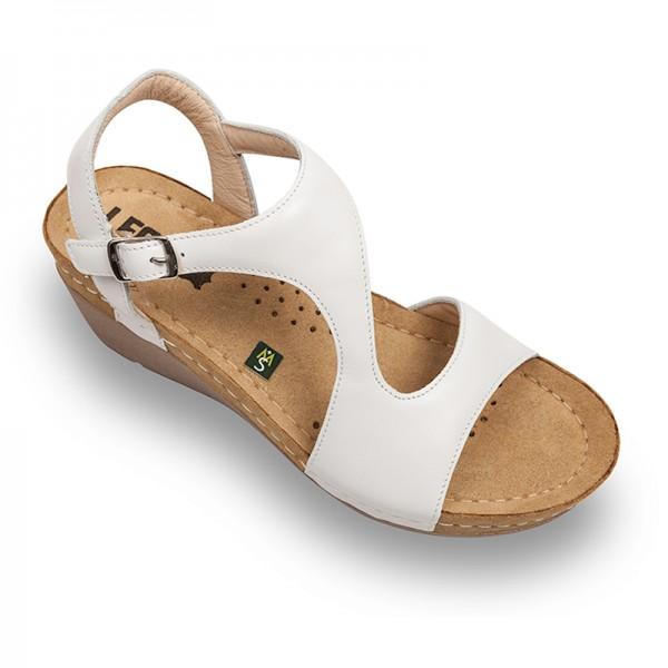 Sandale ortopedice pentru dame Leon 1050 Alb