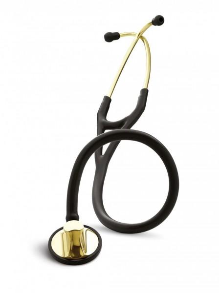 Stetoscop 3M Littmann Master Cardiology Negru capsula alama 2175 + 2 Cd-uri educationale