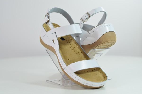 Sandale ortopedice pentru dame Leon 920 Alb