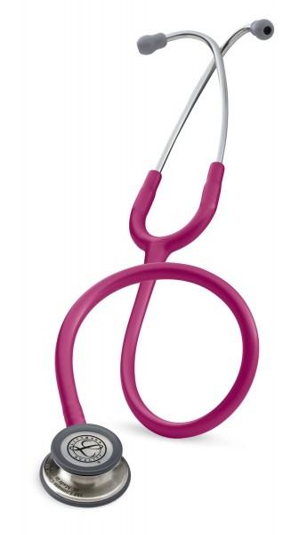Stetoscop 3M Littmann Classic III Roz Inchis - Zmeura 5626 + 2 Cd-uri educationale
